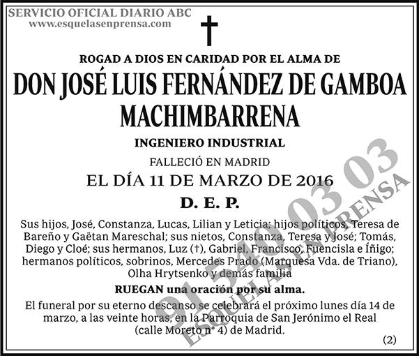 José Luis Fernández de Gamboa Machimbarrena